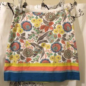 Boden Floral Print Spring Midi Skirt Size 10